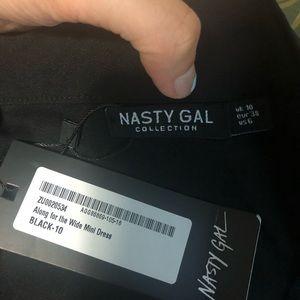 NWT nasty gal mini dress with a strap to tie